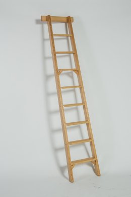 TIMBER SHELF LADDER - SL ( LIBRARY STEP )