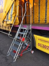GALVANISED STEEL  VEHICLE ACCESS STEPS - GMVS
